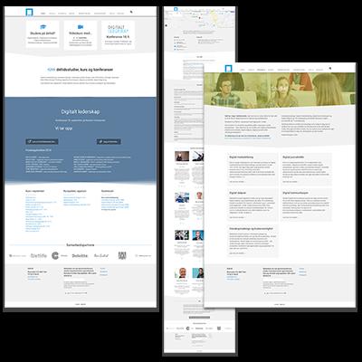 Faksemile av nettsiden IGM laget og tilpasset responsivt webdesign