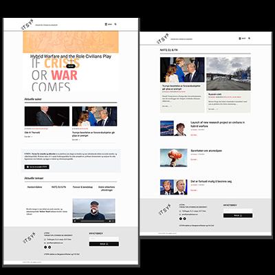 Faksemile av nettsiden UTSYN laget og tilpasset responsivt webdesign