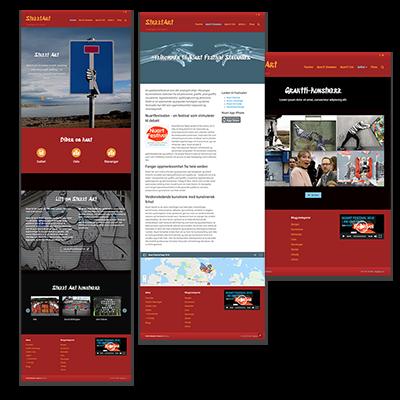Faksemile av nettsiden kursside laget og tilpasset responsivt webdesign