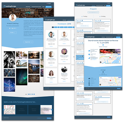 Faksemile av Faksemile av nettsiden makingDesign laget og tilpasset responsivt webdesign til MakingDesign